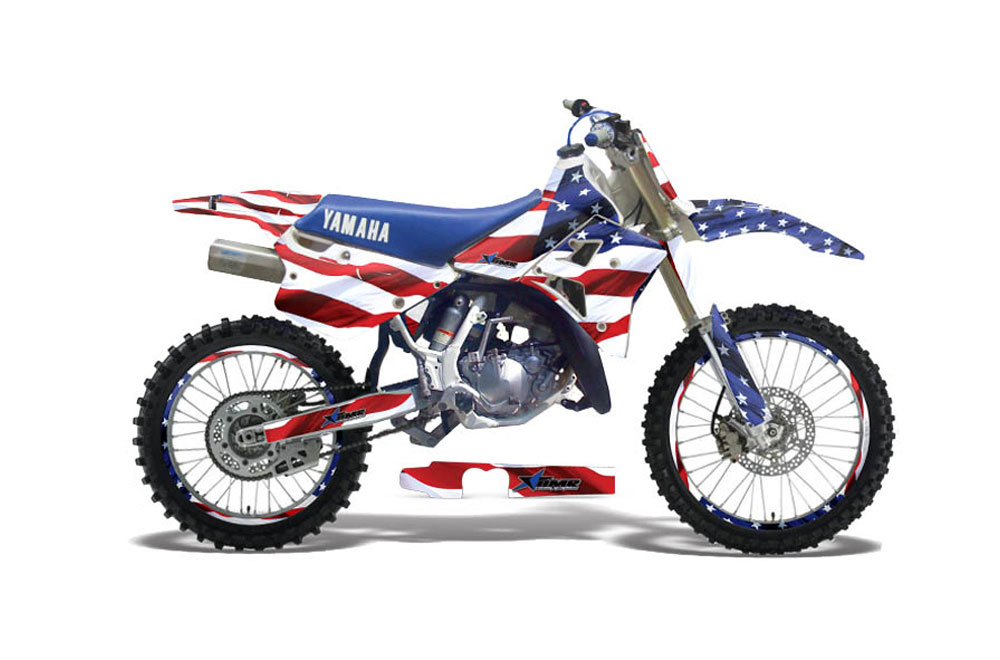 Yamaha WR 25OZ Dirt Bike Graphics: Stars and Stripes - MX Graphic Decal Wrap Kit (1991-1993)