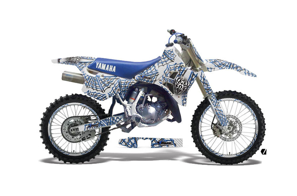 Yamaha WR 25OZ Dirt Bike Graphics: Widow Maker - White MX Graphic Decal Wrap Kit (1991-1993)
