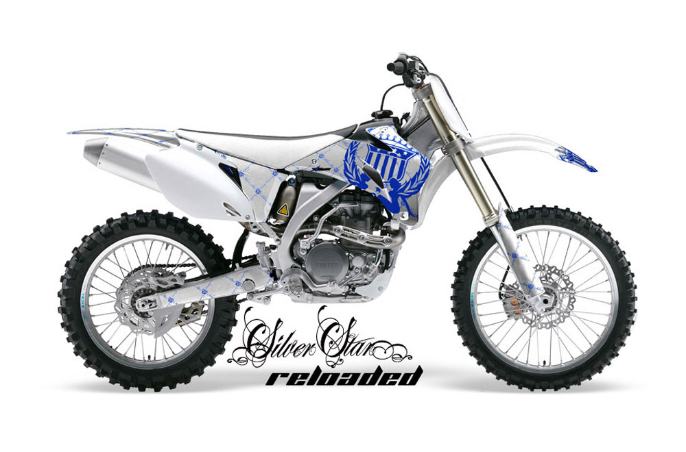 yamaha yz250 f 4 stroke dirt bike graphics  silver star