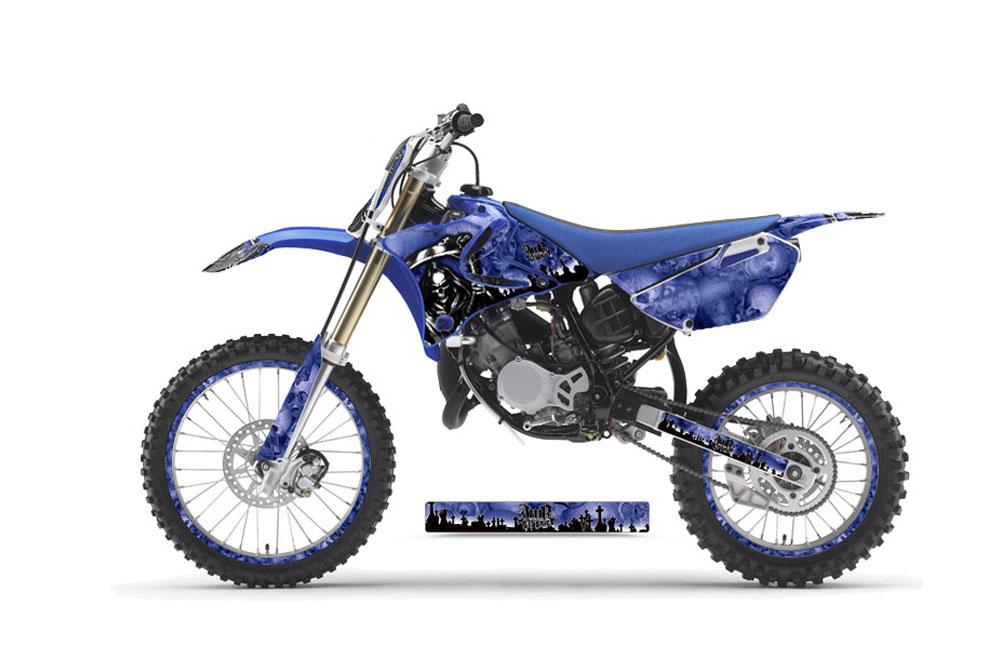 Yamaha YZ 85 2002-2014 Decal Graphic kit for Dirt Bike MX Motocross Deco YZ85 REAPER BLUE