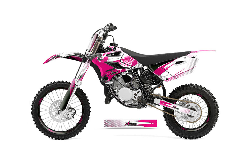 yamaha yz85 dirt bike graphics carbon x pink mx graphic